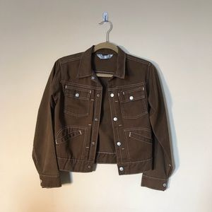 XS/S Vintage 70s Brown Denim Jacket